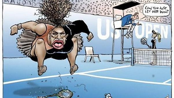 Escándalo por una caricatura de Serena Williams
