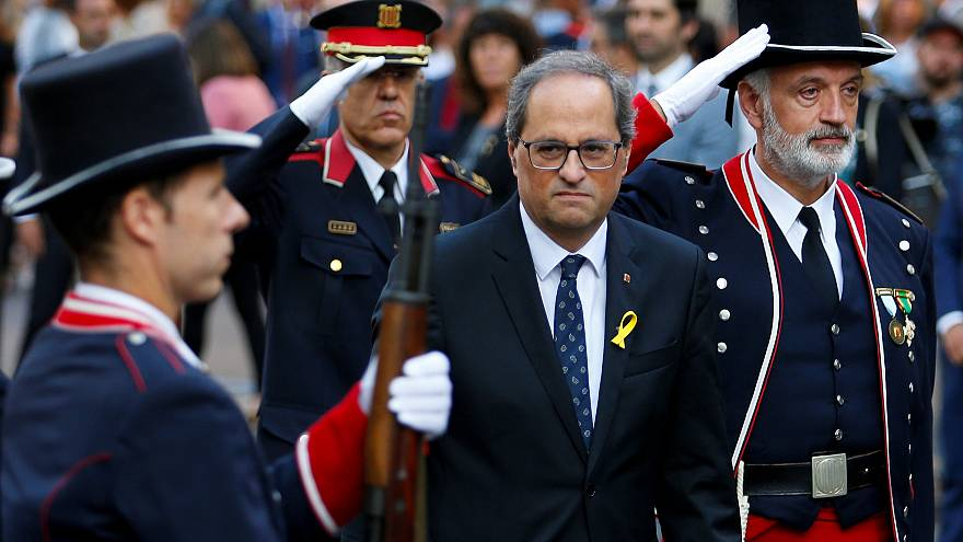 Catalan politicians attend national day celebrations