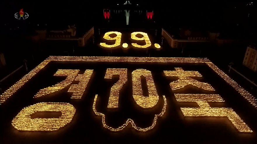 Un espectáculo para conmemorar la fiesta de Corea del Norte