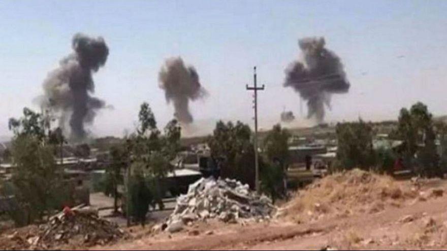 بمباران مقر حدکا در کوی سنجق واقع در کردستان عراق