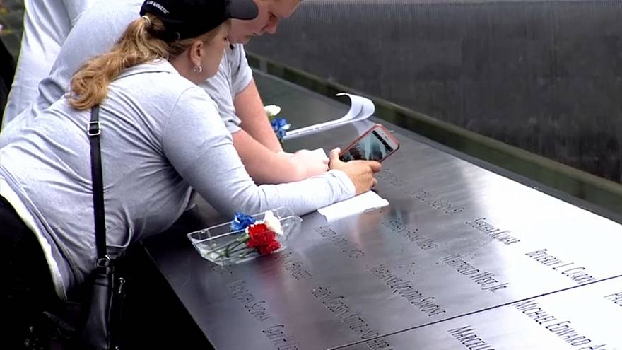 Watch: people pay their respects on 9/11 anniversary