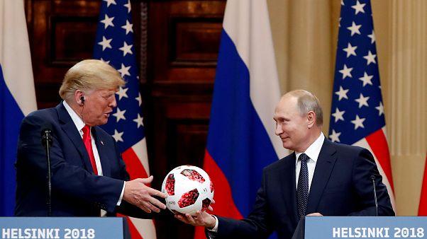 U.S. President Trump and Russian President Vladimir Putin in Helsinki