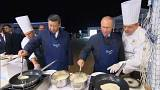 Putin and Xi treat themselves with pancakes, vodka and caviar