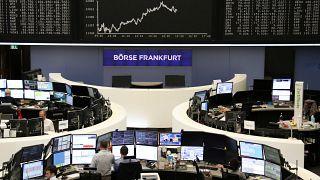 سوق البورصة في فرانكفورت بألمانيا