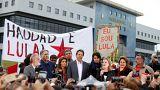 """""""Haddad, c'est Lula"""", comme le dit cette banderole"""