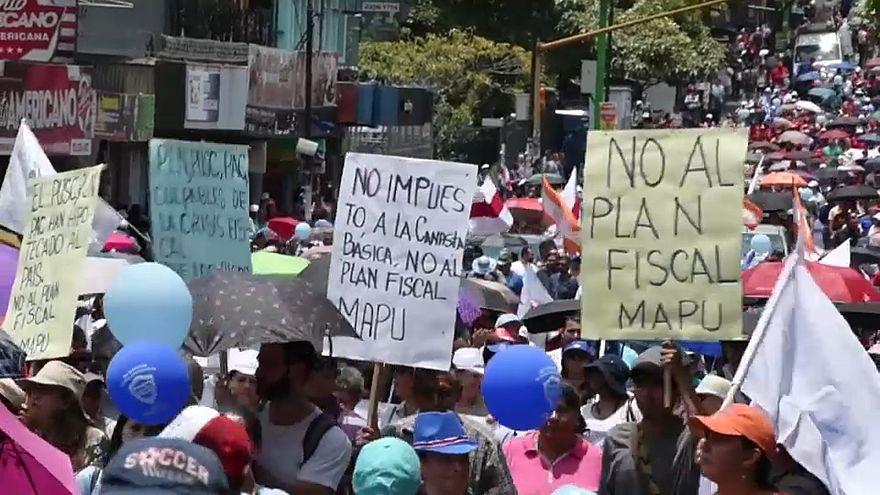 Huelga en Costa Rica contra la reforma fiscal