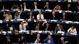 Members of the European Parliament take part in a vote on Hungary