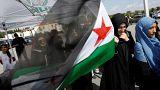 نساء يحملن علم الجيش السوري الحر
