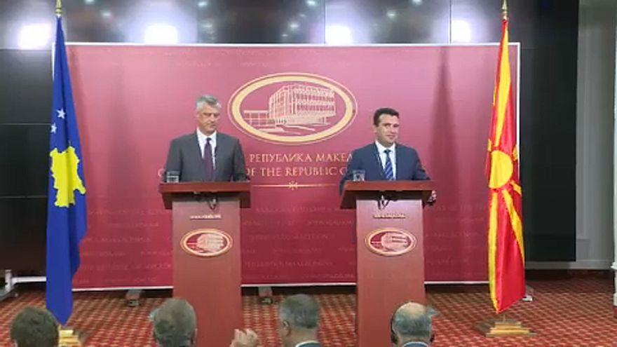 Συνάντηση Ζάεφ με Θάτσι στα Σκόπια