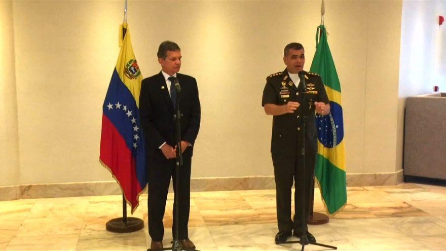 Ministros da Defesa do Brasil e da Venezuela reunidos em Puerto Ordaz
