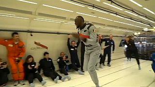 Usain Bolt también vence a la gravedad