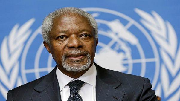 مراسم خاکسپاری کوفی عنان در غنا
