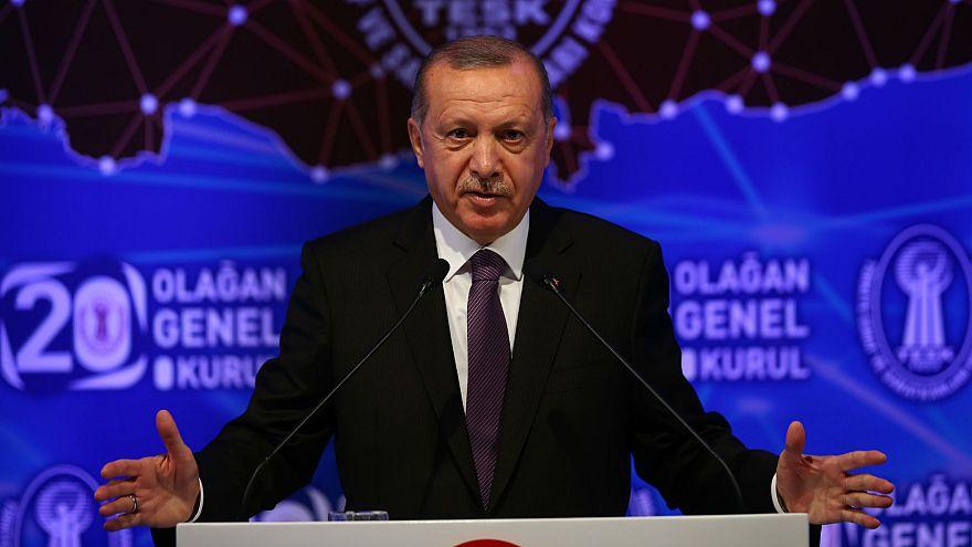 Erdoğan Grand Ankara Otel'de düzenlenen TESK Genel Kurulu'nda konuştu.