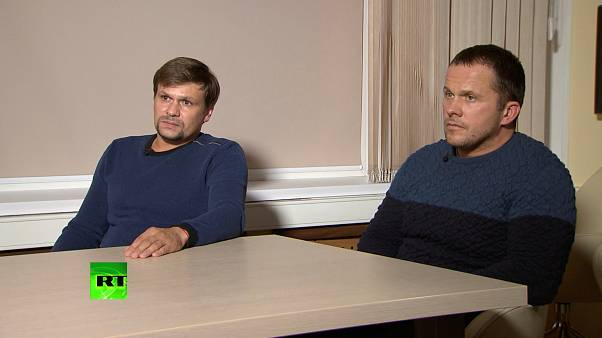 """""""Ruslan Boshirov"""" and """"Alexander Petrov"""" in an interview with Russia Today"""