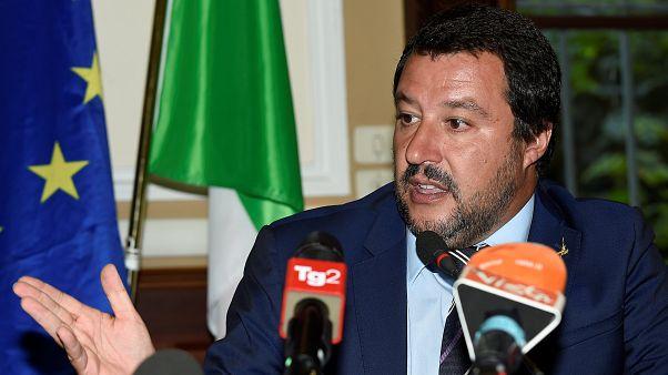 نائب رئيس الوزراء ووزير الداخلية الإيطالي ماتيو سالفيني