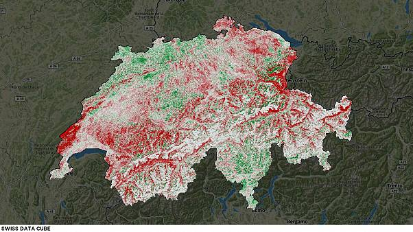 This map shows how 'snow is disappearing from Switzerland'