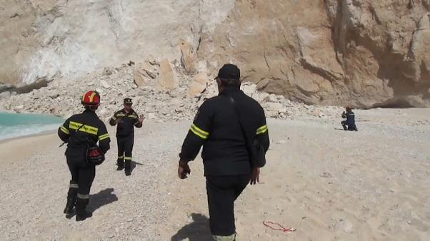 Tourists injured in Greek Island rockfall