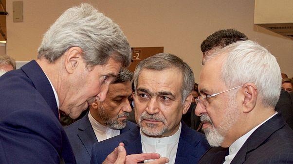 جان کری و محمد جواد ظریف در زمان مذاکرات برجام