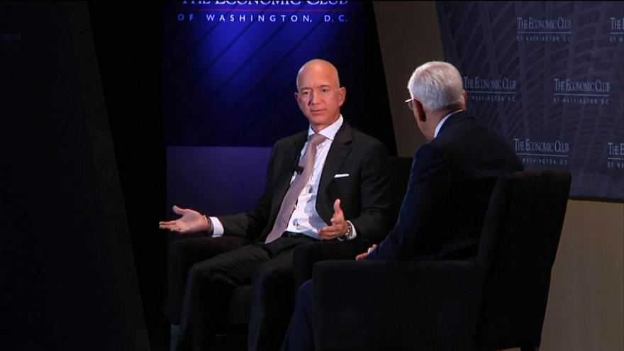 Jeff Bezos launches 1.4 billion euros charity fund