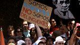 Los estudiantes se suman a las protestas en Costa Rica