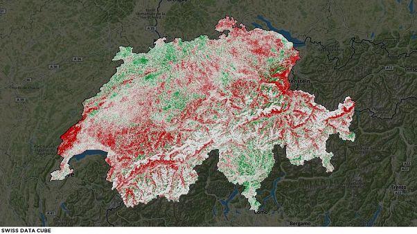 في بلاد الألب .. ثلوج تتلاشى من الخارطة في سويسرا