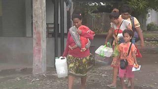 El ciclón Mangkhut ya está en Filipinas