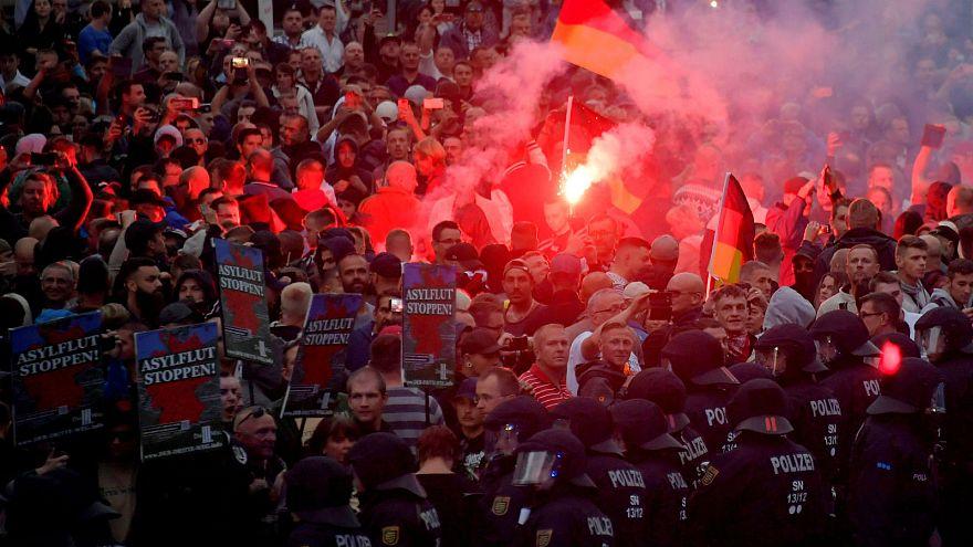 Chemnitz protester jailed over Hitler salute