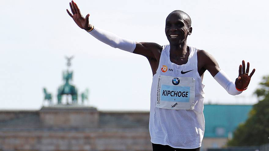Athletics: Kenyan Eliud Kipchoge breaks marathon world record in Berlin
