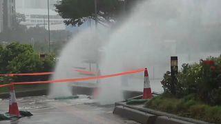 """Wirbelsturm """"Mangkhut"""" wütet in Hongkong"""