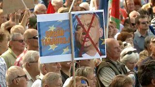 Európa mellett, Orbán ellen tüntettek Budapesten