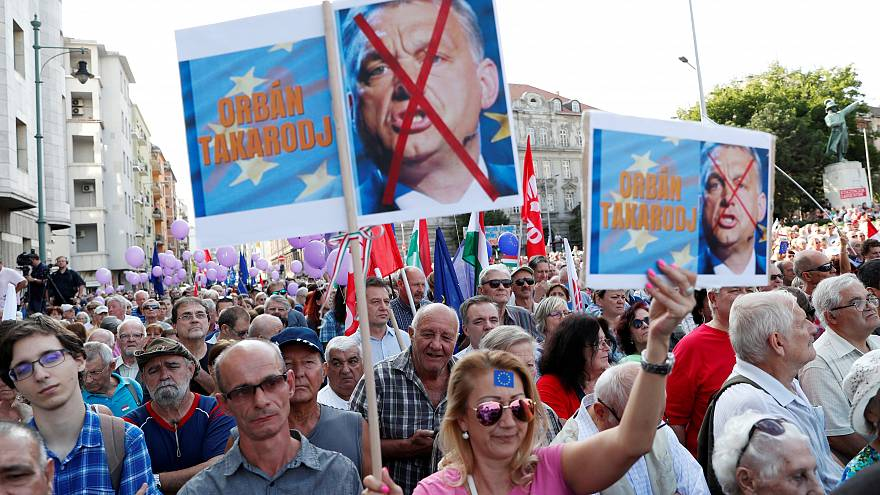 Manifestation anti-populiste en Hongrie