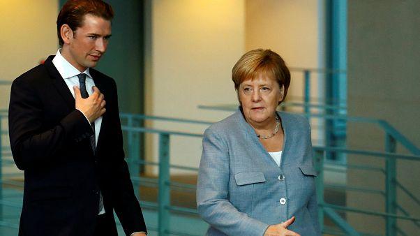 Merkel und Kurz wollen mehr Grenzschutz