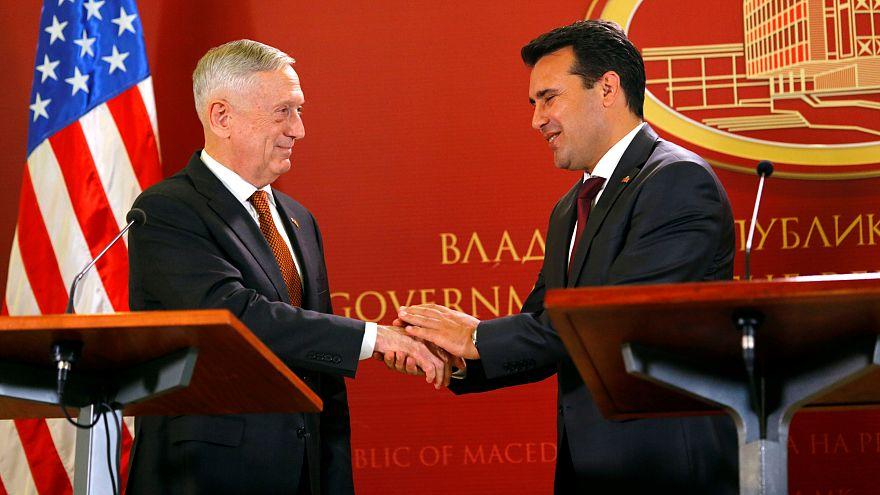 Αποτέλεσμα εικόνας για Τζέιμς Μάτις στα Σκόπια