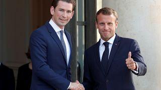 Macron et Kurz prônent le renforcement de Frontex