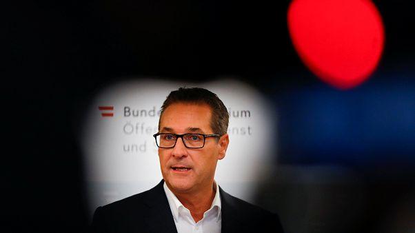 Heinz-Christian Strache sajtótájékoztatót tart 2018. szeptember 14-én