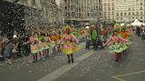 Lyon'daki festivalde dansçılar barış için sokağa çıktı