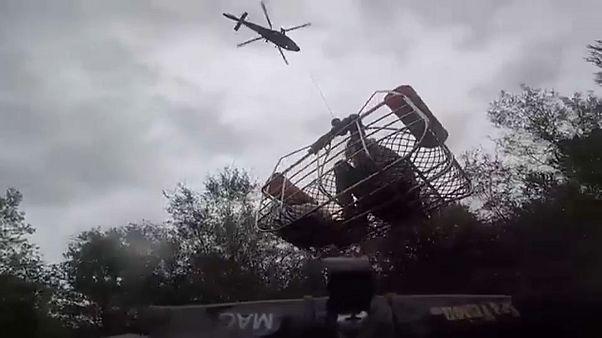 "Resgate via aérea depois de ""Florence"""
