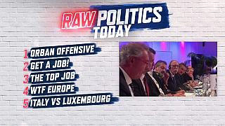 Raw Politics: Orban comes out fighting, Macron doles out job advice & Maroš Šefčovič in the studio