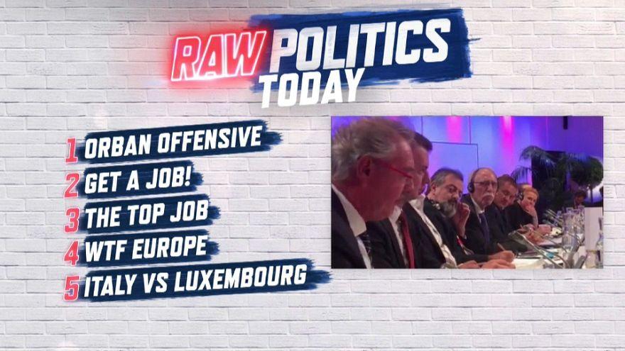 Raw Politics: Orban comes out fighting, Macron doles out job advice & Maroš Šefčovič in the studio