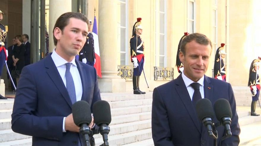 Macron and Kurz talk immigration ahead of EU talks to close a major rift over the issue
