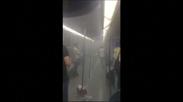 La explosión de un ordenador desata el caos en el metro de Madrid