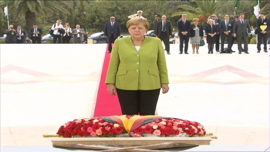 Merkel visits Algiers to enhance bilateral ties with the country