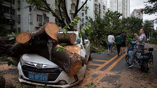 O rasto de devastação do Mangkhut