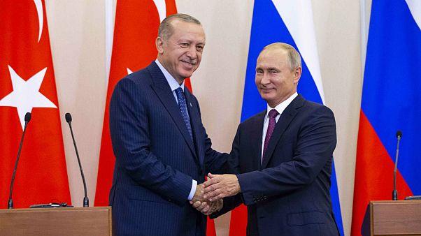 Russian President Putin and his Turkish counterpart Erdogan