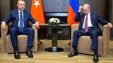 Russian President Vladimir Putin meets his Turkish counterpart in Sochi