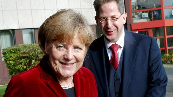 German Chacellor Angela Merkel with former spy chief Hans-Georg Maassen