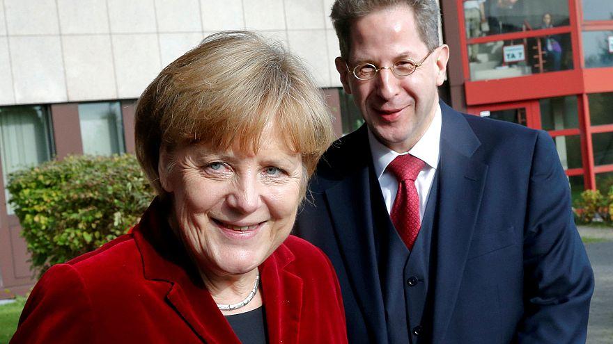German Chacellor Angela Merkel with former spy chief Hans-Georg Maassen