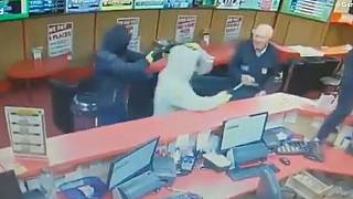 Watch: Great-granddad confronts robbers in betting shop   The Cube