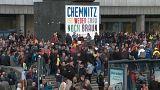 جانب من مظاهرات اليمين المتطرف في كيمنيتز