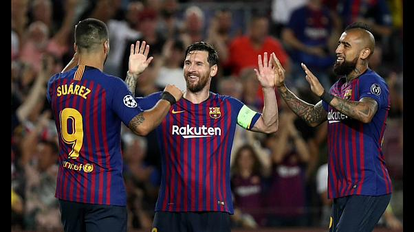 Goleada del Barça, remontada del Atlético de Madrid